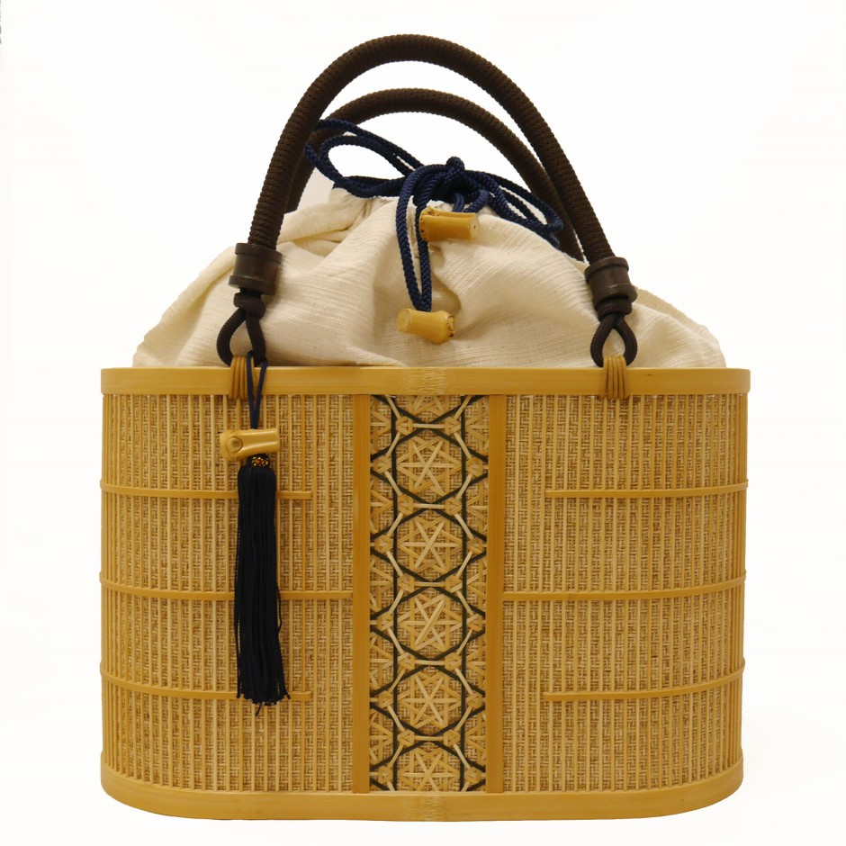 Bamboo Bag White Aoi Malva Medium Kusuyama